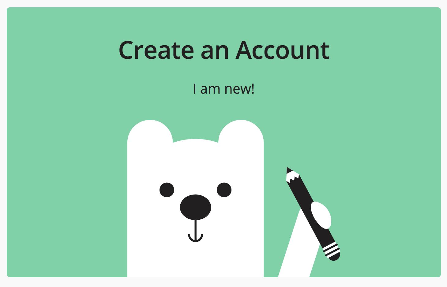Create an Account button