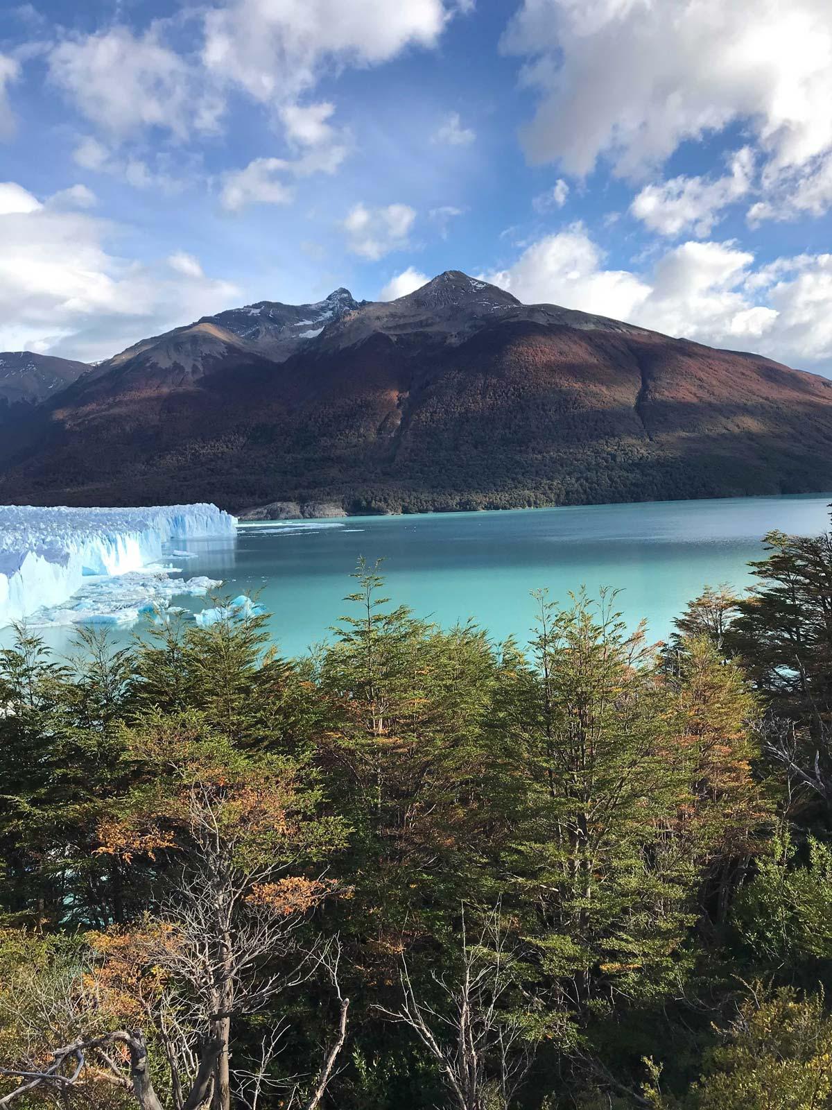 View of the Perito Moreno Glacier and Lago Argentino