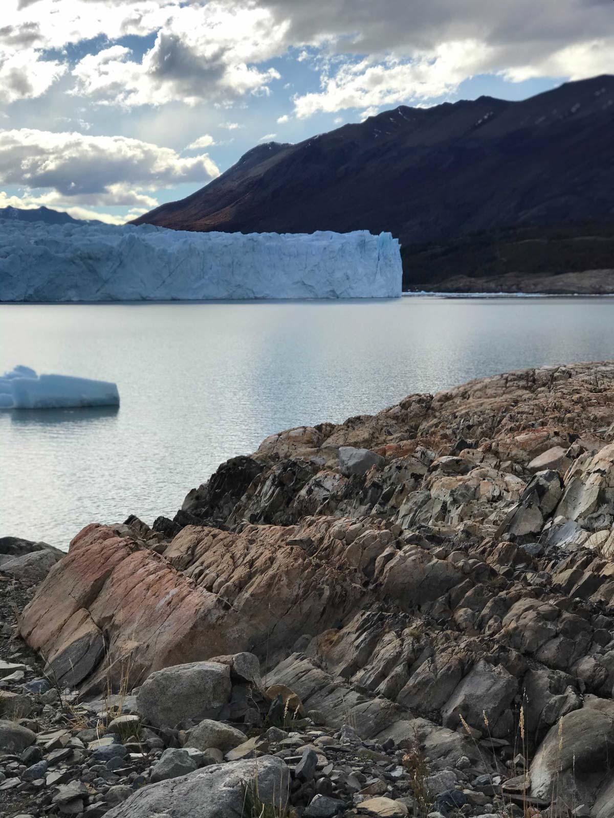 View of the Perito Moreno Glacier from the coast
