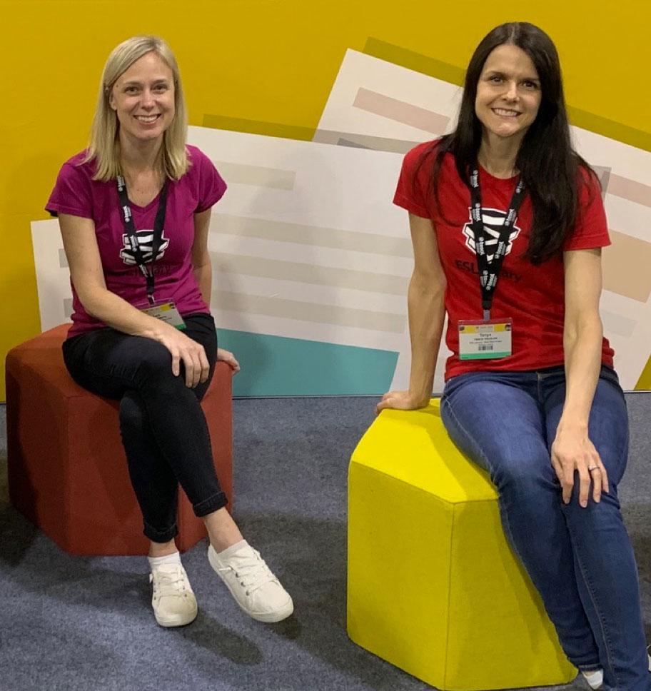 Tara and Tanya at TESOL in Atlanta