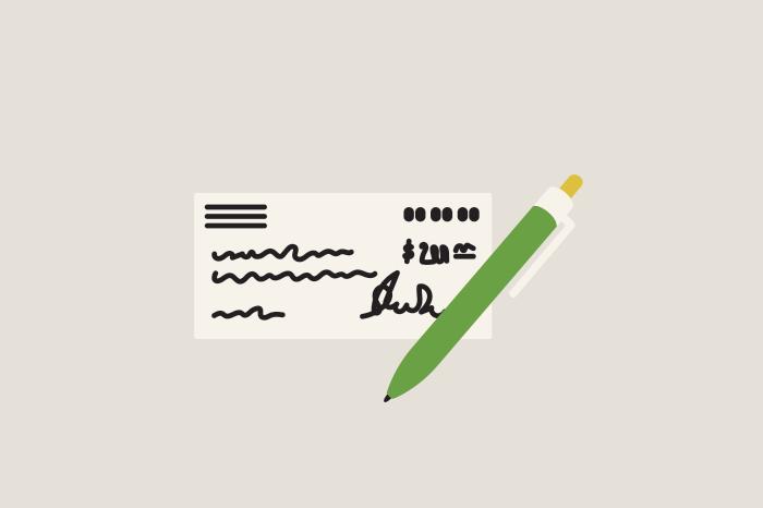 121 how to write a check