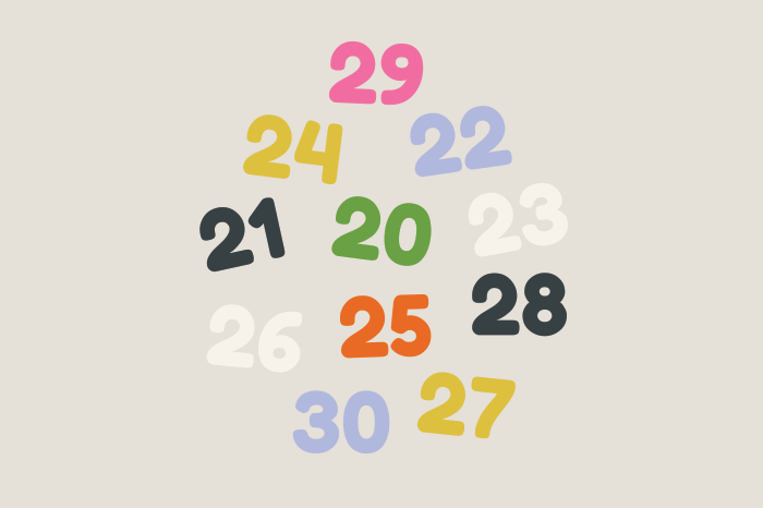 121 numbers 20 30