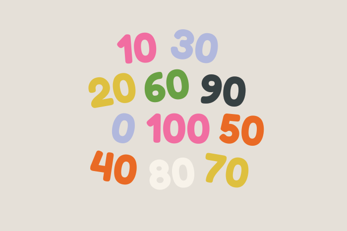 121 numbers 0 100