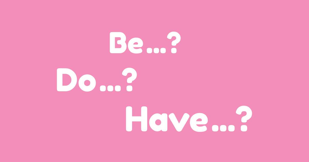 Tanya questions with be do and have banner