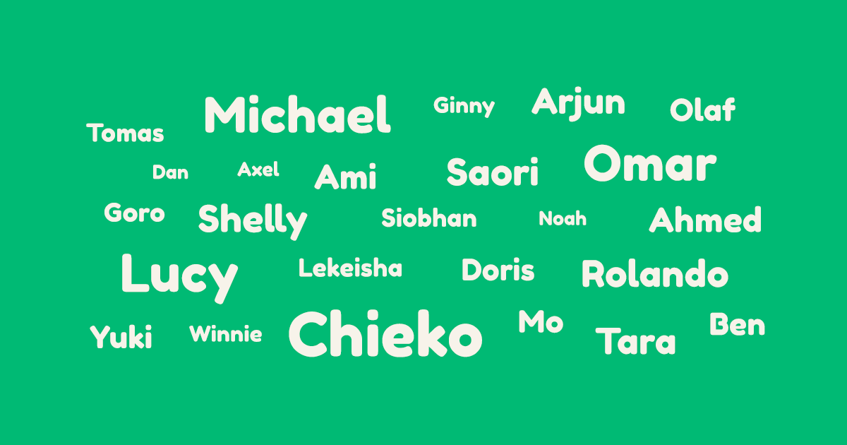 Shelly lets learn each others names banner